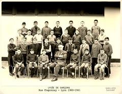 1960-61 Lycée Chaponnay LYON, 5èM5 - Professeur : M. JOLY photo by Bernard CHALAVOUX
