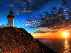 first light at cape byron photo by paul bica
