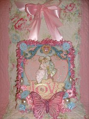 Love,valentine,marie antoinette,shabby,cottage,altered art,wall hanging 2 photo by stephanies cottage!