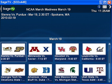 SageTV March Madness On Demand