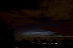 Noctilucent clouds 62009 photo by Owen Llewellyn