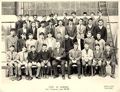 1962-63 Lycée Chaponnay LYON, 3èM5 - Professeur M. CARRIER photo by Bernard CHALAVOUX