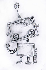 Cute Robot Tattoo Design photo by Chris Hatch Tattooist