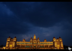 Mysore Palace and the sky