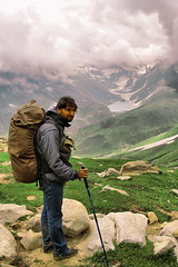 "THE ROCK,Umair one of the best trekkers in pakistan , he is active member of ""concordians "" photo by TARIQ HAMEED SULEMANI"