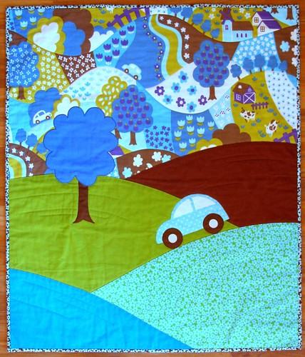Hilltop Drive quilt