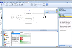 Global 360 analystView Visio integration: simulation results
