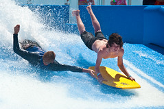 Mastering the Flowrider photo by Arian Durst