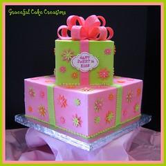 Sweet 16 Birthday Cake photo by Graceful Cake Creations