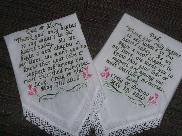 Custom Embroidery Handkerchief 171 Embroidery Amp Origami