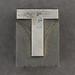 Caslon metal type letter T