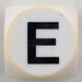 Boggle black letter E