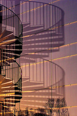 Reflection and Shadow - Spiral Staircase photo by Canadapt