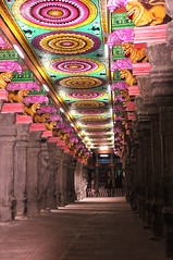 prehistoric pop art in Madurai temple photo by marinfinito