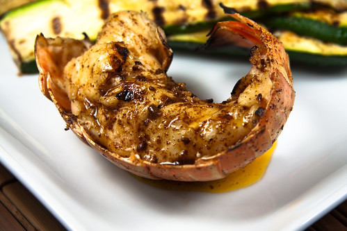 Grilled Lobser Tail w/Chili-Lime Butter