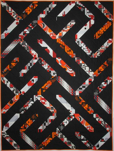 Slash/Backslash throw quilt (front)