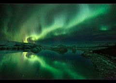 Ice & Aurora - Jökulsárlón photo by orvaratli