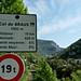 Sign at bottom of climb