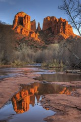 Sedona Reflection @ Castle Rock photo by Charlie Stinchcomb