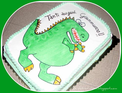 Torta dinosauro (T-rex cake)