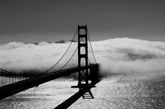 Golden Gate in fog photo by Mr. Physics