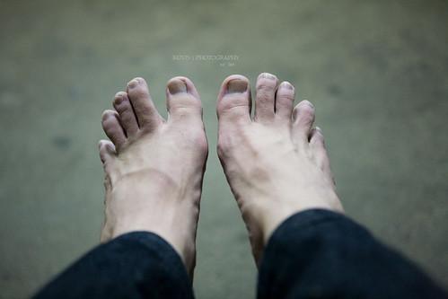 剛泡完溫泉的腳