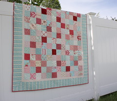 Pink, Red and Aqua quilt photo by amy smart
