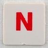 hangman tile red letter N
