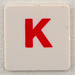 hangman tile red letter K