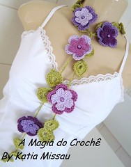 Cordão Fiore photo by A magia do crochê