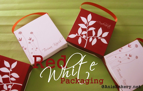 red n white packaging for bahulu