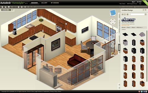 Autodesk homestyler el autocad online para dise ar for Programas de diseno de interiores 3d gratis