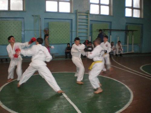 Examenul la TaeKwon-Do la Lăpușna (Ionel Rotaru, 18 Februarie 2010)