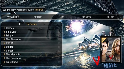 Ortus Main Menu TV Series
