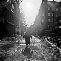 The walking lady photo by Sina Farhat