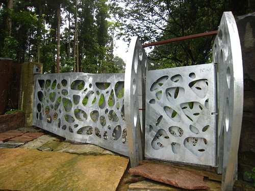 超有藝術設計感的鐵門