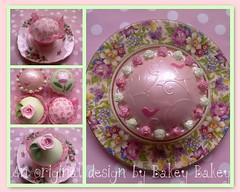 Cath Kidston inspired Rose cupcakes photo by Bakey Bakey