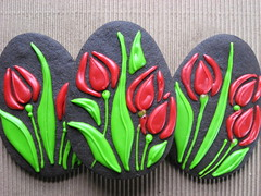 Spring Tulips Easter Cookies photo by drakegore
