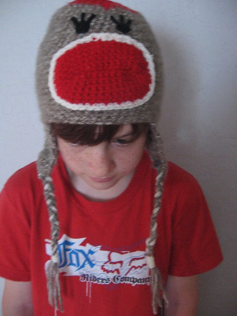 Amazon.com: Sock Monkey Beanie Hat Crochet Pattern for Baby or