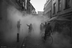 Foggy Day in the streets of Brussels photo by Ben Heine