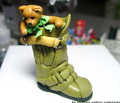 polymer clay 軟陶袖珍熊熊 fimo photo by CiCi Fimo