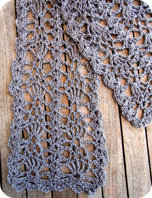 Broomstick Lace Shawl Crochet Pattern from Caron Yarn | FaveCrafts.com