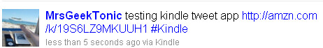 Kindle Tweet