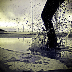 Day 21 *Puddle Jumping* photo by Michelle Elaine.