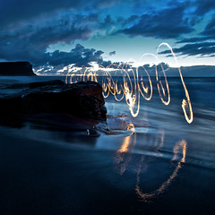 Garie Beach Fire Scribbles photo by alexkess