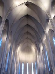 The interior of Hallgrímskirkja church, Reykjavik, Iceland photo by o palsson