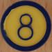 Color Bingo taronja número 8