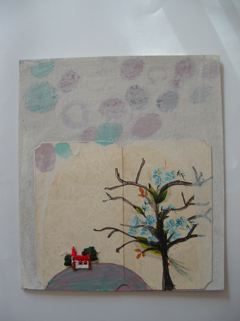 EMBROIDERY ON PAPER CARDS