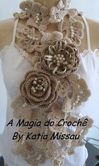 Cachecol Nívia Rose photo by A magia do crochê