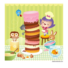 Baking the cake photo by Jerrod Maruyama